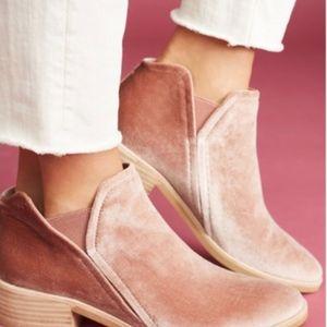Dolce Vita Tay, Rose Pink Velvet Booties
